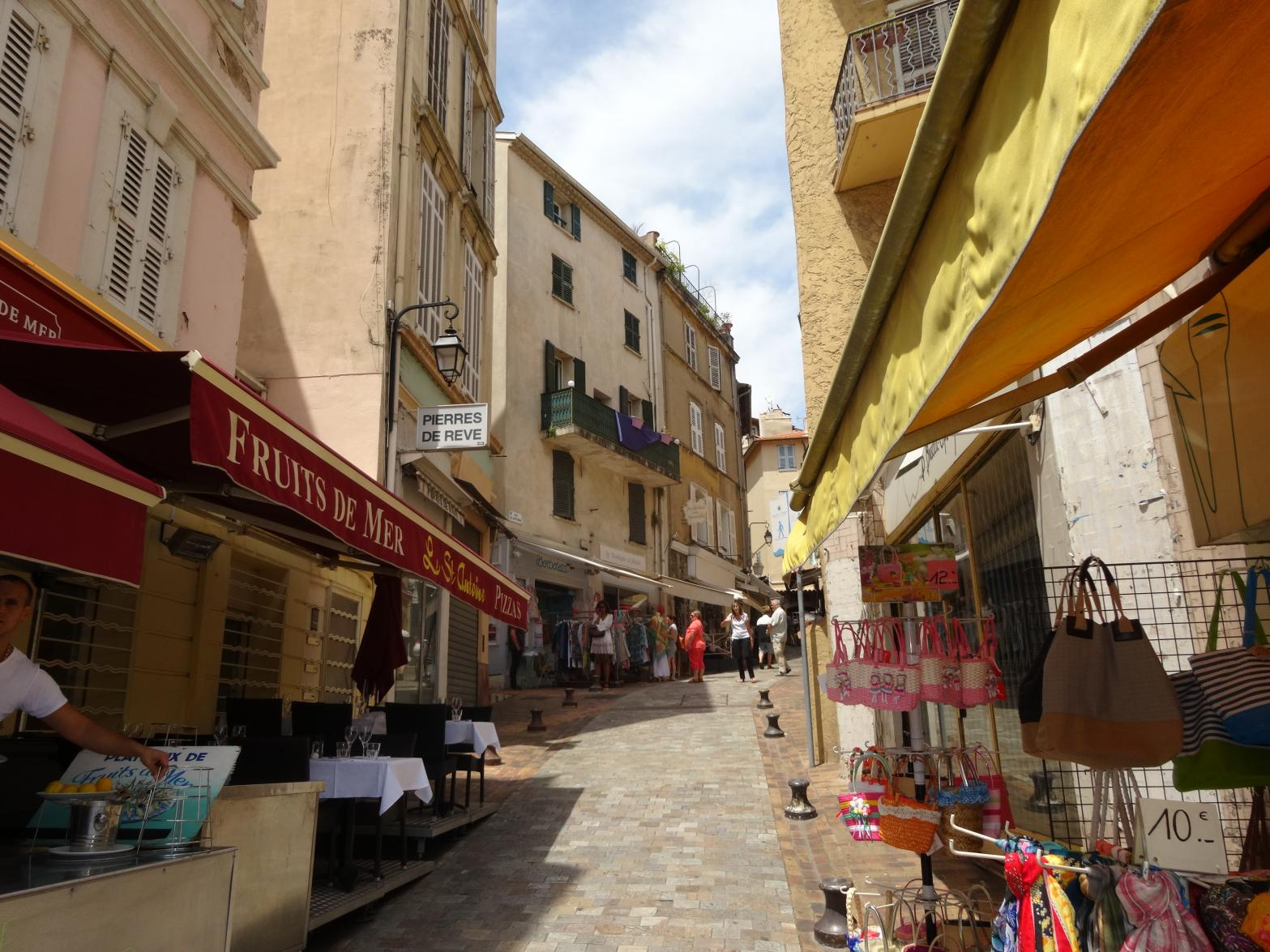 The apartment is located in the oldest part of Cannes called ''Le Suquet''