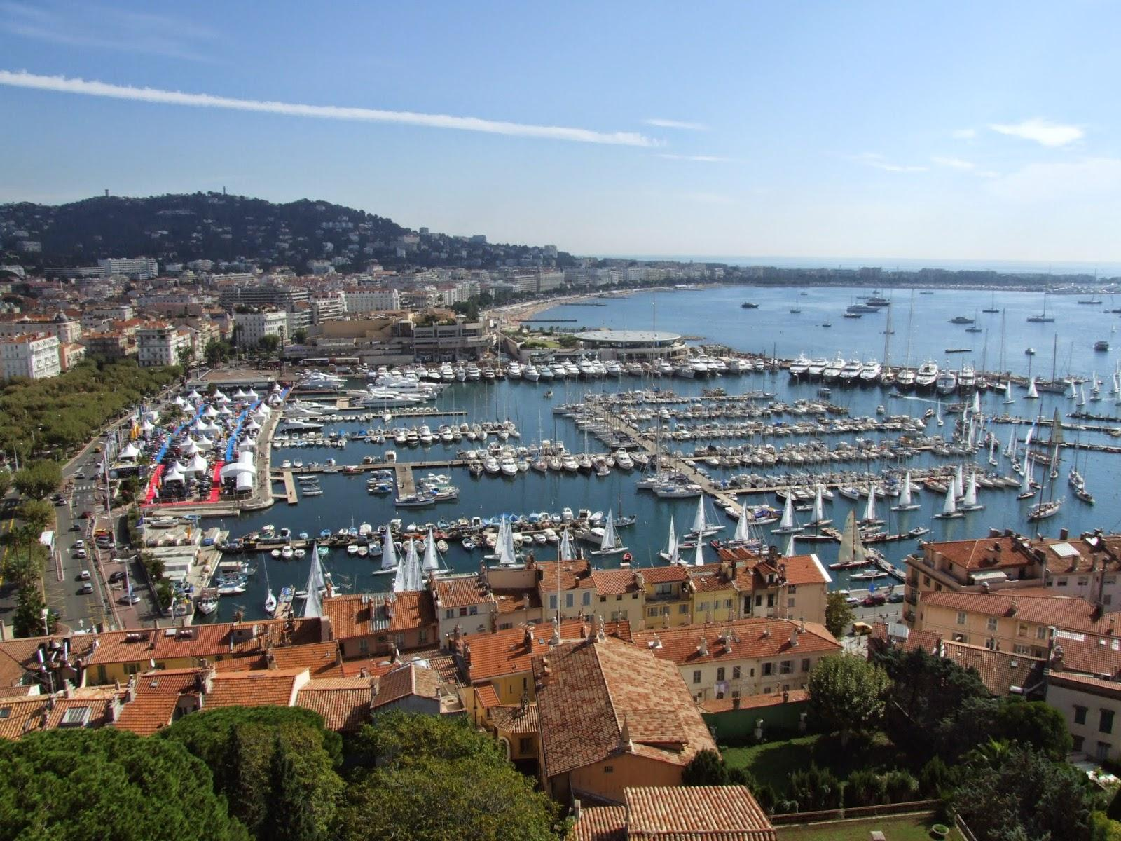 Amazing view of Cannes, the viewing area is 10 mins walk from the apartment