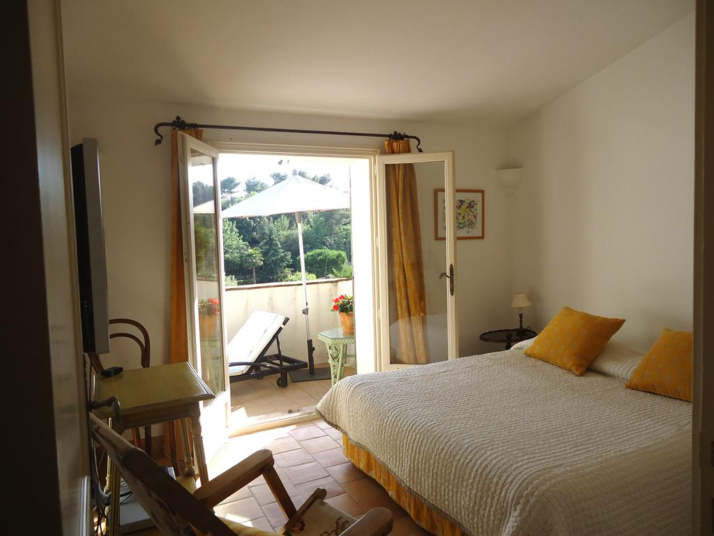 Spacious second bedroom (first floor) facing gorgeous hillls of St Paul de Vence