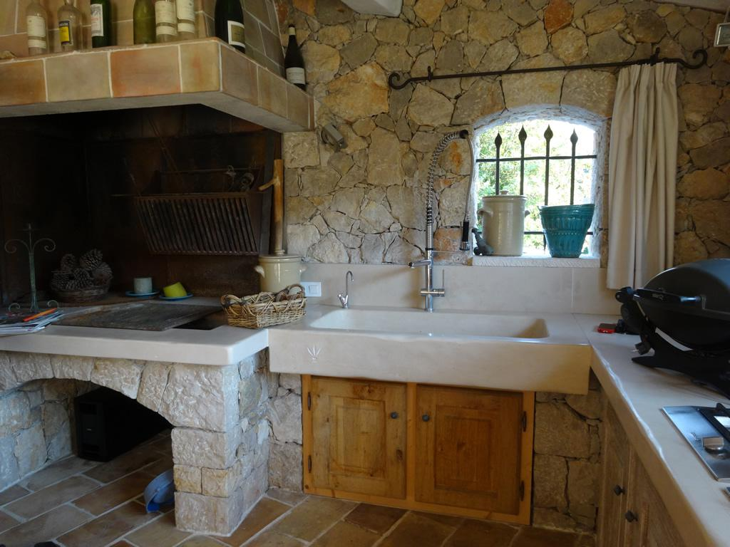 Fully equipped summer kitchen is perfect for cooking a barbecue or a family meal
