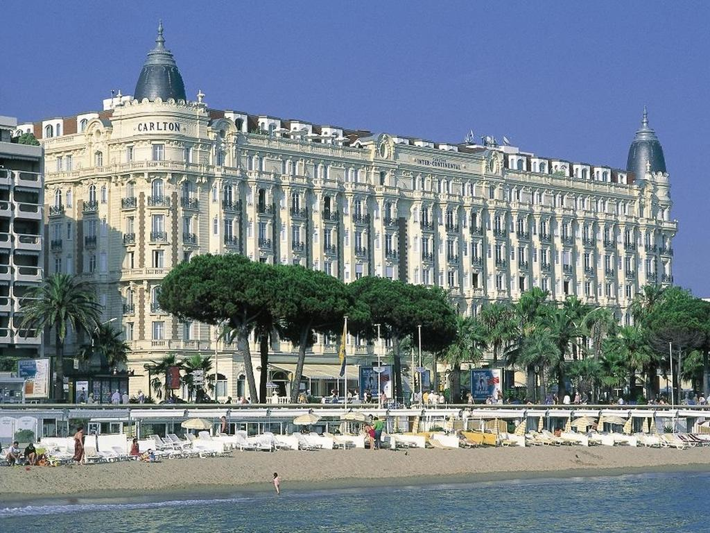 World famous InterContinental Carlton hotel is 15 mins walk along la Croisette