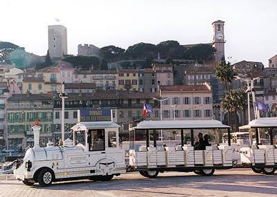 Petit Train de Cannes - cute white small train that takes u around the city to see the main attractions and the touristy spots (3 mins walk from the apartment)