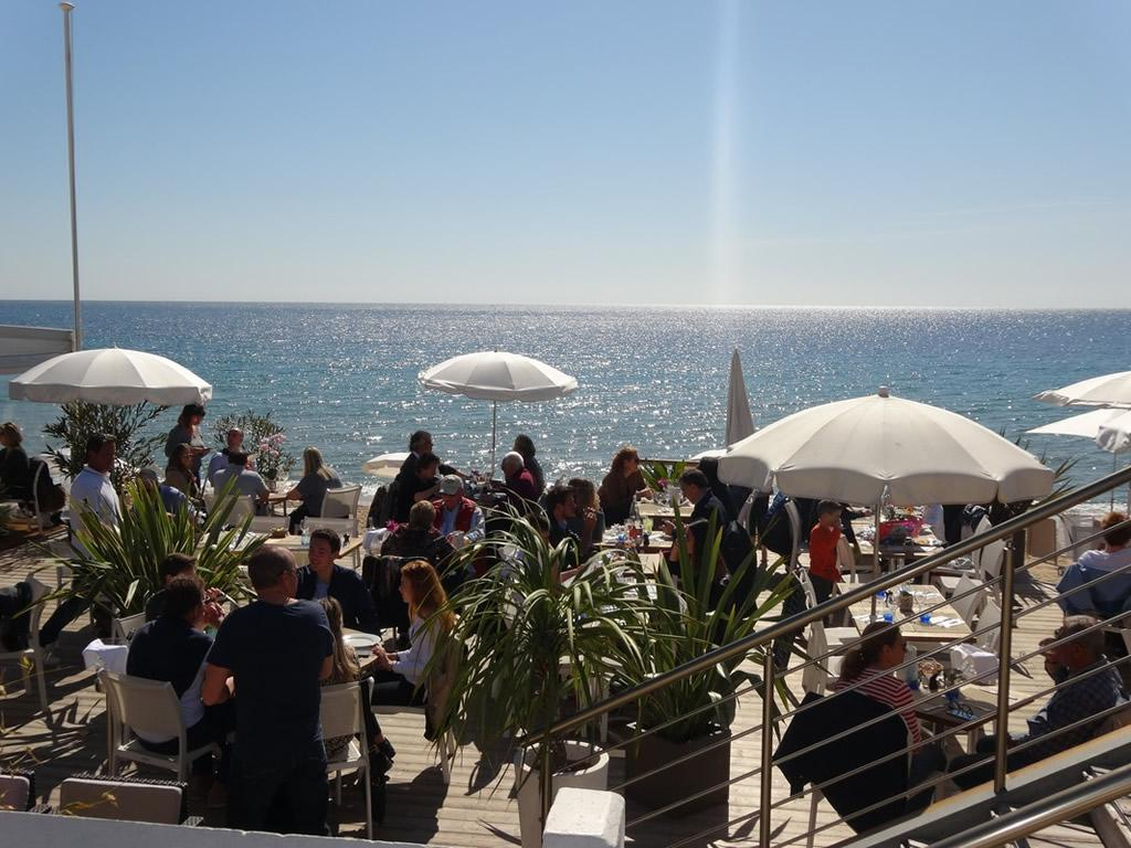 Fabulous beach bars just across the road